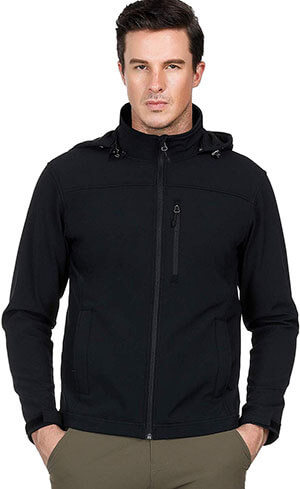 MIER Men's Hooded Softshell Jacket