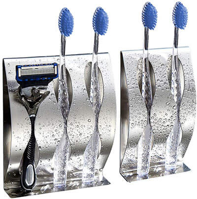 MyLifeUNIT Wall Stainless Steel Tooth Brush Organizer
