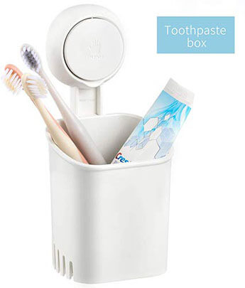 Budget & Good Wall Mounted Toothbrush Holder for Adults & Kids
