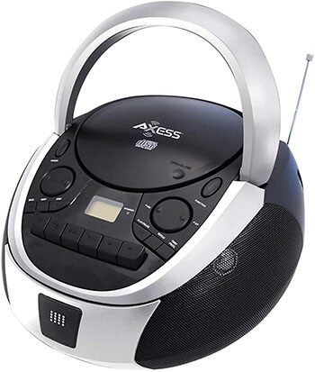 Axess Top-Loading Portable Boombox