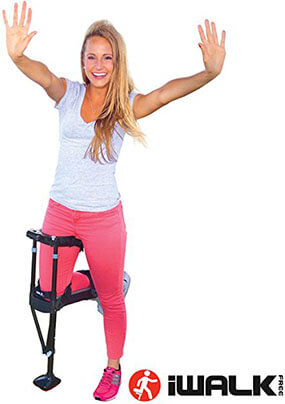IWALK2.0 Hands-Free Knee Crutches and Knee Scooters