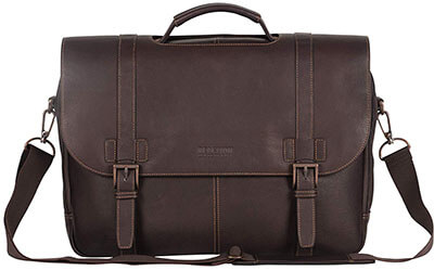 Kenneth Cole Reaction Dual Compartment Flap-over Laptop Portfolio