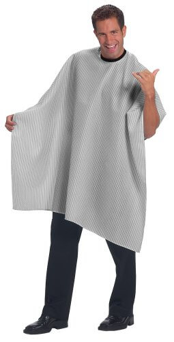 Betty Dain Seersucker Classic Barber Styling Cape