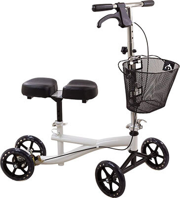Roscoe Knee Scooter with Basket, Knee Walker for Foot Injuries