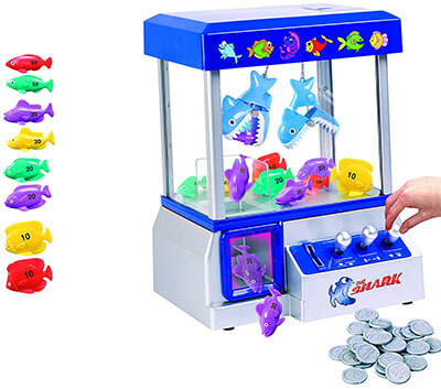 JSNY Shark Arcade Claw Game Machine for Kids