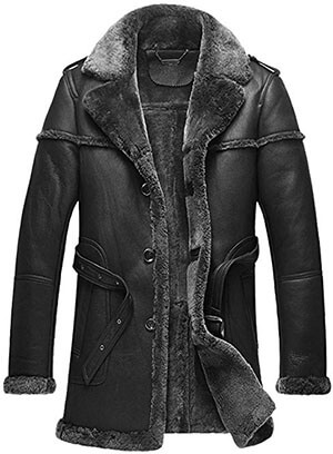 Cwmalls Men's Sheepskin Coat CW878578