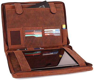 Rustic Town Professional Organizer Durable Leather Padfolio