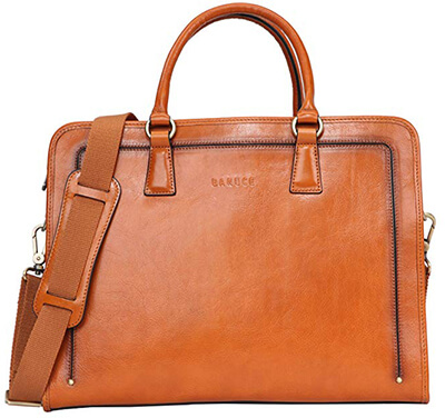 Babuce Full-grain Leather Briefcase