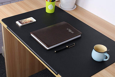 LOHOME Artificial Leather Laptop Mat- Desk Pads