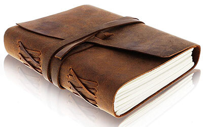Moonster LEATHER JOURNAL Notebook - Antique Handmade Leather