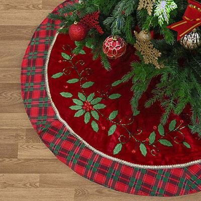 """Valery Madelyn 48"""" Christmas tree Skirt"""