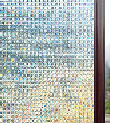 RABBITGOO 3D Window Films Privacy Film Non-Adhesive