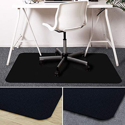 Office Marshal High Impact StrengthOffice Chair Mat with Lip