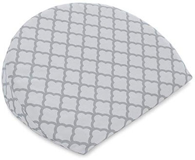 Boppy Pregnancy Wedge with Jersey Scalloped Trellis White- Slipcover