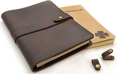 Le vent Refillable Leather Notebook
