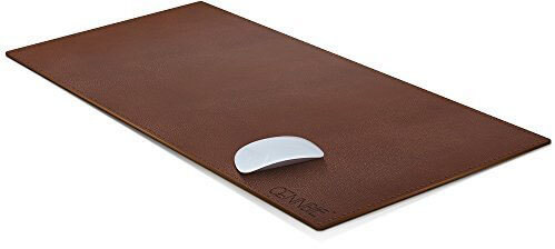 CENNBIE PU Leather Desk Blotter Artificial Leather Desk Mat