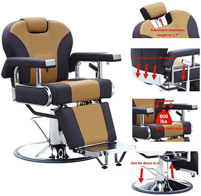Walcut Barber Chair- Hairdressing Salon Seat
