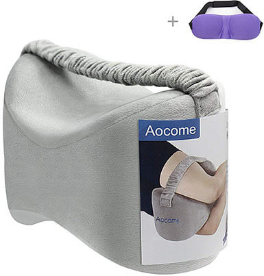 Aocome Knee Pillow Memory foam pillow for Side Sleepers