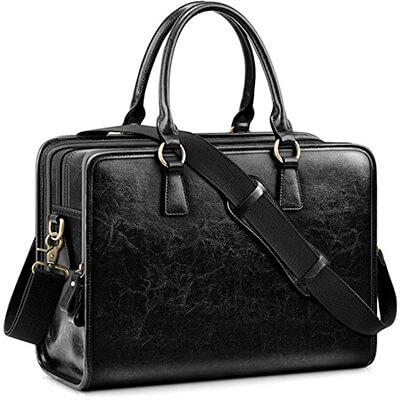 Kattee Genuine Leather Women Briefcase