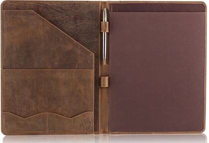 Moonster Leather Professional Organizer Padfolio with Luxury pen