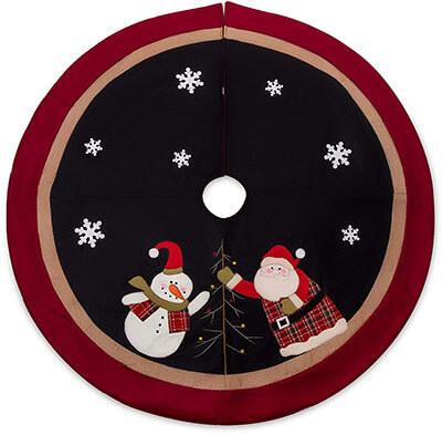 "SANNO 48"" Christmas tree Skirt with Burlap"