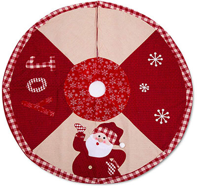 IPEGTOP 42-inch Quilted Christmas Tree Skirt