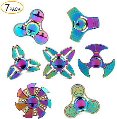 SCIONE Metal Fidget Spinner-7 Pack