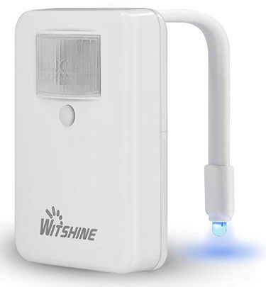 Witshine 16-Color Motion Activated Toilet Night Light