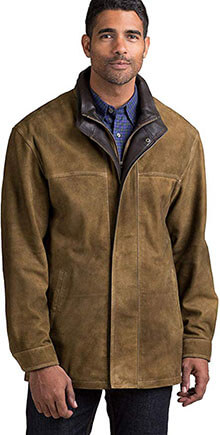 Overland Sheepskin Co Corbin Goatskin Leather Coat