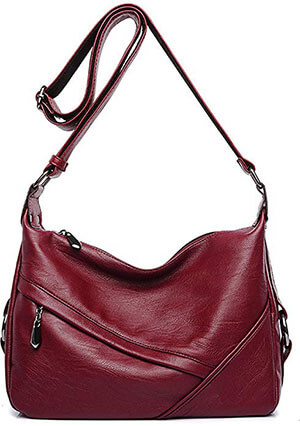 Covelin Leather Crossbody Tote Handbag Women's Retro Sling Shoulder Bag