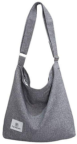 Fanspack Women's Canvas Hobo Handbags Simple Casual