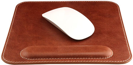 OTTO Leather Genuine Leather Mouse pad-with Wrist rest