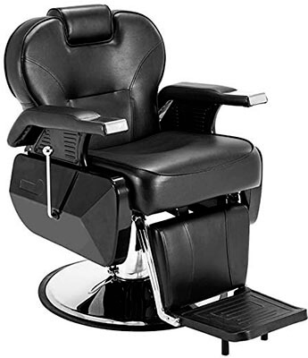 ARTIST HAND Black Hydraulic Recline Barber Chair Salon- All Purpose