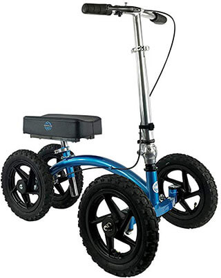 NEW KneeRover QUAD All-Terrain Knee Walker, Metallic Blue