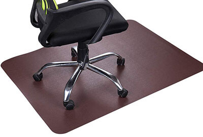 Lesonic Dark Cherry Office Chair Mat and Under Computer Desk Pad 47x35""