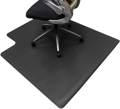 Resilia Office Desk Chair PVC Mat for Hard Floor Protection with Lip, 36'' x 48''