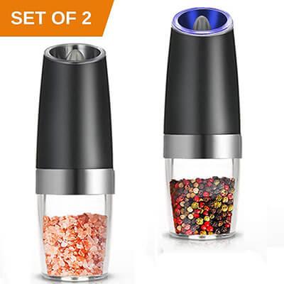 Kaleep Electric Salt and Pepper Grinder Set