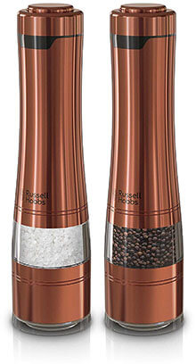 Russell Hobbs RHPK4100CPR Electric Pepper and Salt Mill Set