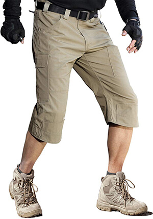 FREE SOLDIER Men's Capri Shorts Pants