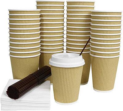 Galashield 12-Oz Disposable Coffee Cups