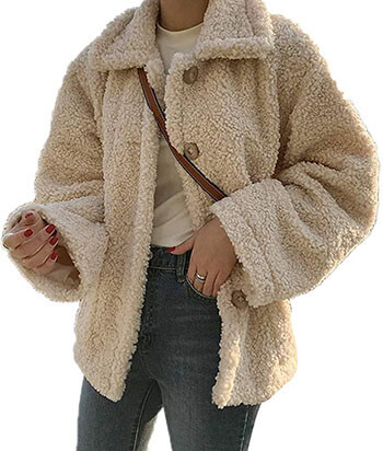 Luodemiss Faux Shearling Coat for women
