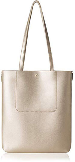 The Lovely Tote Co. Women Expandable Zip Tote Square Shoulder Bag