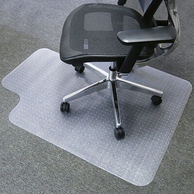 Mysuntown PVC Vinyl Transparent Carpet Chair Mat, 36 X 48 Inches