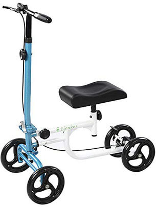 ELENKER Economy Steerable Medical Scooter Crutch Alternative