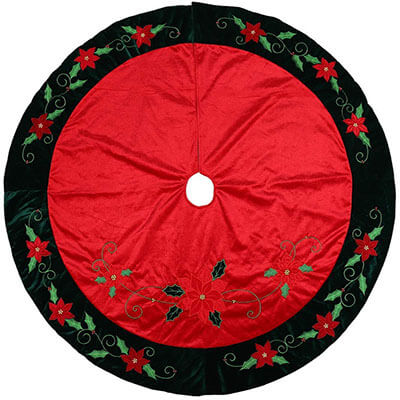 Alice Doria Traditional Red and Green Christmas Tree Skirt