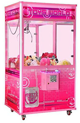 "Toy World Jumbo Prize Commercial Grade Prime Arcades Crane Claw Machine -83"" High"