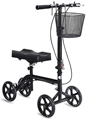 Goplus Steerable Knee Walker Knee Scooter, Foldable