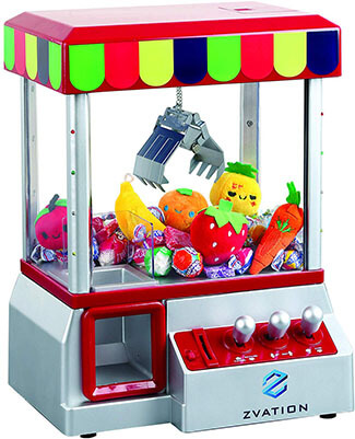 Zvation Toy Grabber Machine with Authentic, Flashing Lights and Arcade Sounds