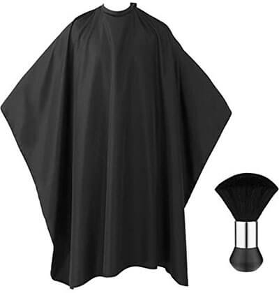 Frcolor Pro Barber Cape with Snap Closure, Neck Duster Brush