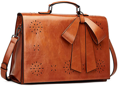 Cluci Oil Wax Leather Briefcase